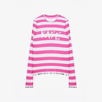 [여주점] WILLY STRIPE FOIL KATE T-SHIRT 티셔츠 ZE0SFCTTE051Z36