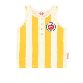 Apple milk vertical Stripe buttons tank top (BP0232336)