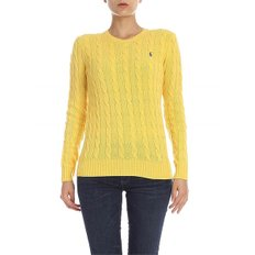 [폴로 랄프로렌] Cable knitted pullover in yellow (211525764060)