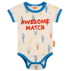 Multi color ice cream cone baby short sleeve bodysuit / BP8216176