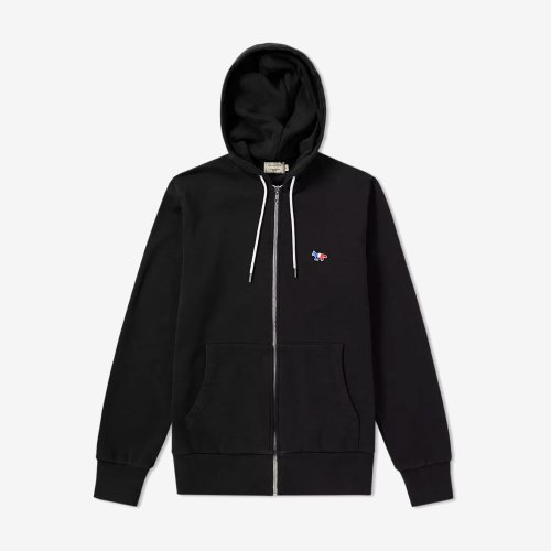 [PRE-ORDER] 19FW ZIP HOODIE TRICOLOR FOX PATCH BLACK MEN AM00304KM0001