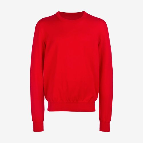 [MAISON MARGIELA/메종마르지엘라] R-NECK ELBOW PATCH SWEATER RED S50HA0800S16390 312