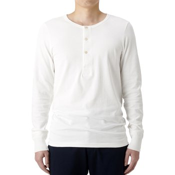206 HENLEY LONG SLEEVE WHITE