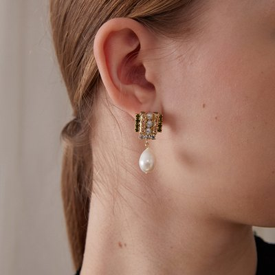Square bubble Earring