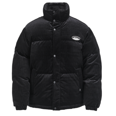 Corduroy Velvet Down Jacket Black