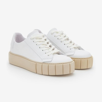 PRIMURY 프라이머리 GRAIN LEATHER DYO SNEAKERS WHITE/C UF500617MTA
