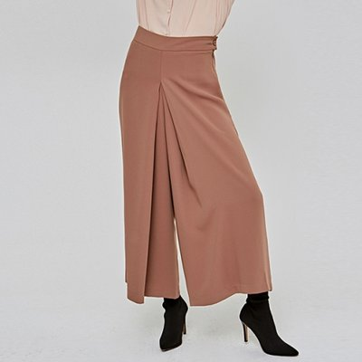 [DEANS] LONG WIDE MAXI SLACKS_CAMEL