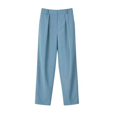 [레이브]Side Tuck Tapered Slacks in Blue_VW0SL1020