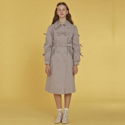 [소피앤테일러] Ribbon Trench Coat _ Lavender