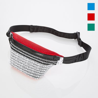 [S.K.N] Dot stripe knit fanny-bag S (3color)