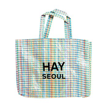 헤이 Multi Check Shopper M HAY + SEOUL Logo