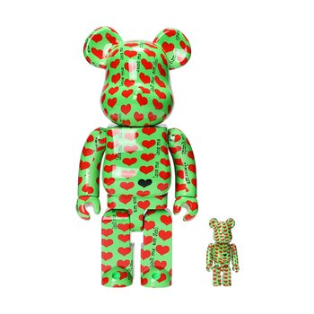 400%+100% BEARBRICK GREEN HEART