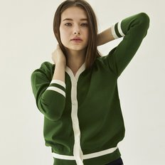 [30%할인적용가]color cardigan_green