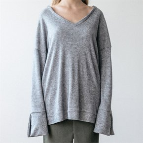 V NECK KNIT GREY (3516681)