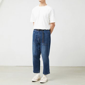 그라미치 DENIM LOOSE TAPERED PANTS DARK USED