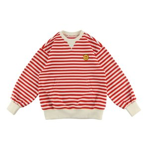 Quiz smile stripe sweatshirt