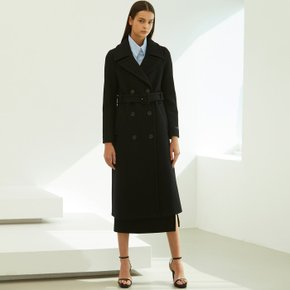 [룩캐스트] BLACK BELT WOOL COAT (3524227)