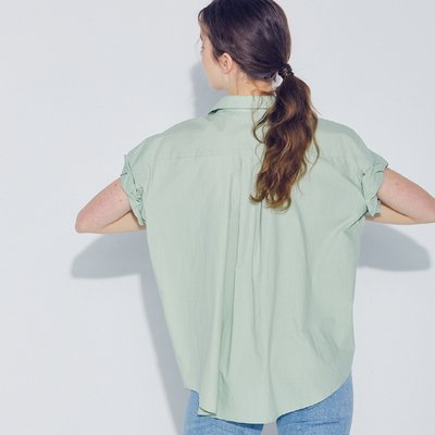 [SSG혜택가][웬스데이딜라잇] Sleeve Roll-up Blouse_Mint
