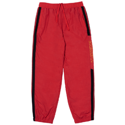 Side Block Track Pants Red