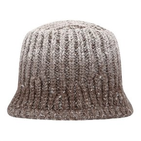 GRADATION KNIT BUCKET HAT (BROWN) (6224088)