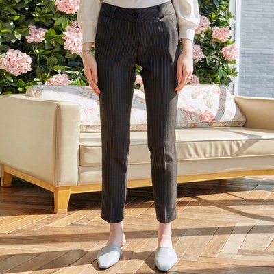 PIN ST STRAIGHT SLACKS_BLACK (2222678)