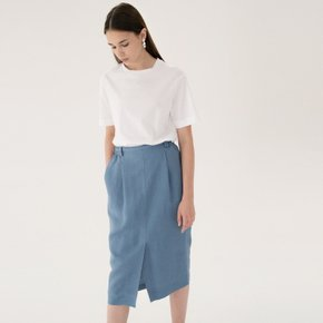 [15%할인가][블랭크공삼]linen band skirt (sky blue)