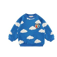 Multi cloud baby sweatshirts