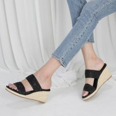 kami et muse Glittering strap espadrille wedge slippers_KM19s281