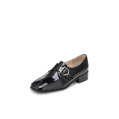 Enamel monk strap loafer(black) DG1DX19004BLK