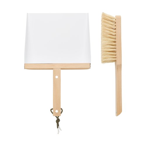 BROOM&DUSTPAN SET White