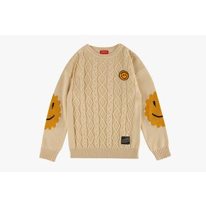 Icebiscuit smile point fullover sweater