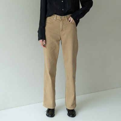 loose-fit dying pants (camel)