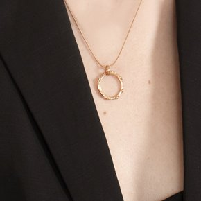 Melting ring Necklace (Silver, Gold)