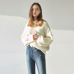 WOOL OVER TURTLE SWEATER_CREAM (4008319)