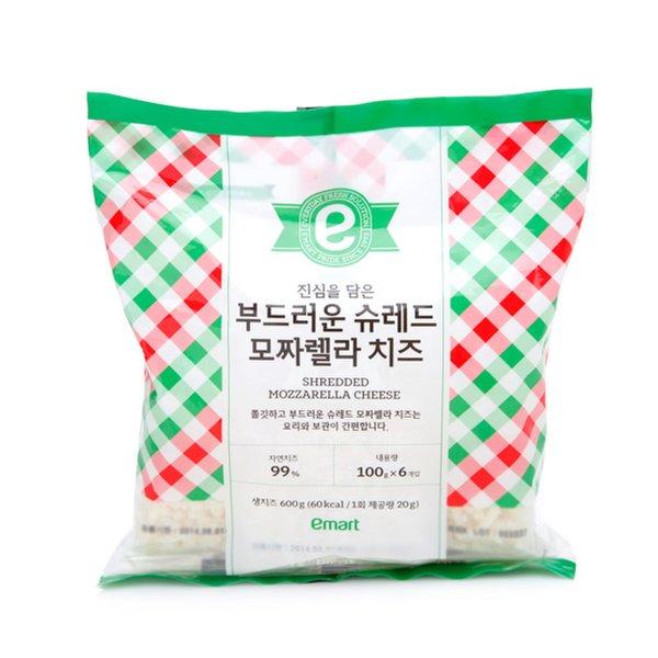 [이마트] 진심을 담은 부드러운 슈레드 모짜렐라 치즈(100g*6개입) 600g