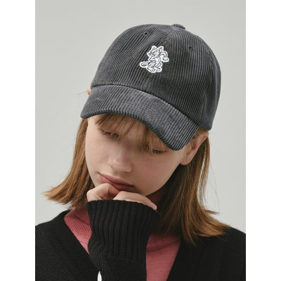 [FW19 T&J] One Point Corduroy Cap(Grey)