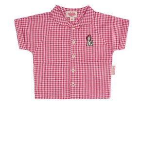 Puppy baby gingham check shirts / BP8204165