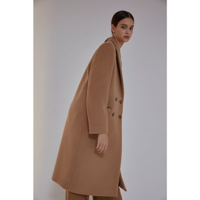 [ ICONIC ] Coat Solid Double Wool Camel