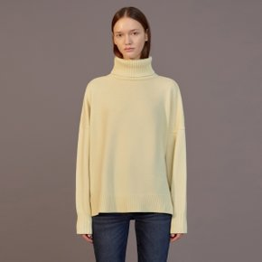 LEXIS CASHMERE PULL OVER KNIT - YELLOW