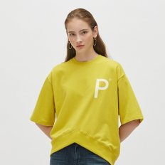 [19S/S][PLAC] WOMENS NEW V-CUTTED HEM LINE SHORT SLEEVE SWEAT SHIRTS (PWON3WSL70W0Y1)