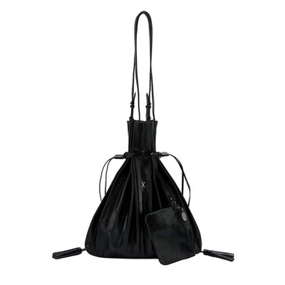 [조셉앤스테이시] Lucky Pleats Shopper Cracked Black
