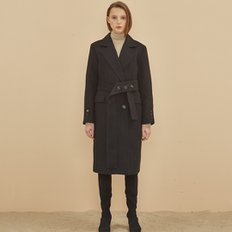 [SSG 혜택가]STANDARD WOOL MAC DOUBLE COAT BLACK