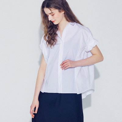 [SSG혜택가][웬스데이딜라잇] Sleeve Roll-up Blouse_Ivory