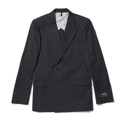 solid double suit jacket_CWFBM18411BKX