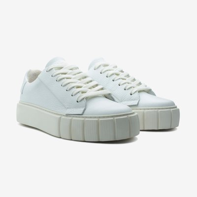 PRIMURY 프라이머리 GRAIN LEATHER DYO SNEAKERS WHITE UF500617MTA