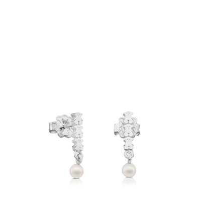 [최초출시가 93,000원]Silver Straight Earrings with Pearl/귀걸이/512723530