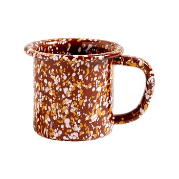 ENAMEL MUG SPRINKLE BROWN