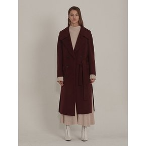 ★SSG특별혜택가★[뮤제]Daian Cashmere blend Wool Coat_Burgundy
