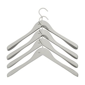 SOFT COAT HANGER WIDE GREY Set of 4