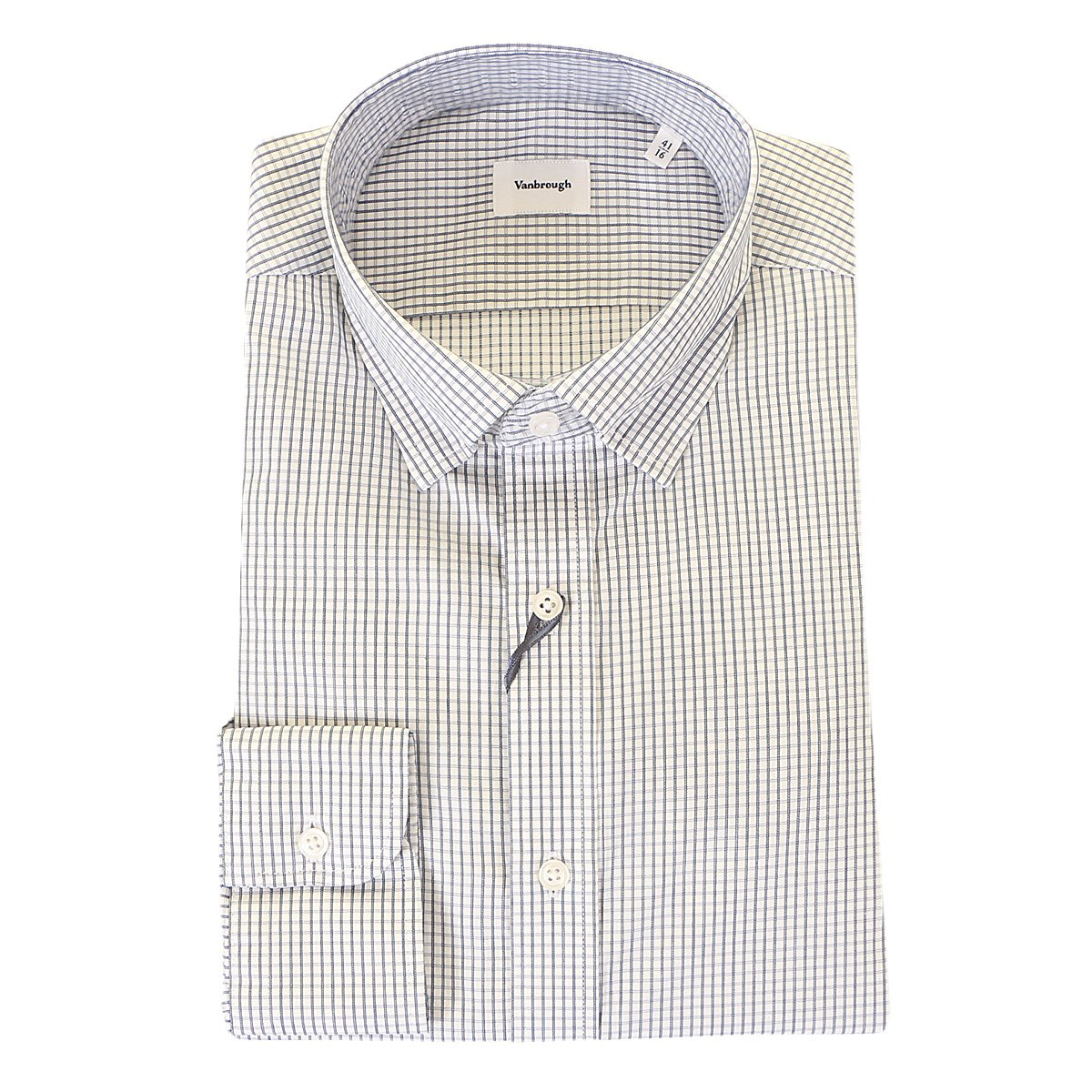 4bb0403ff59 BGSSL-1252NY]핀체크 네이비 스냅세미와이드카라 셔츠, 신세계백화점